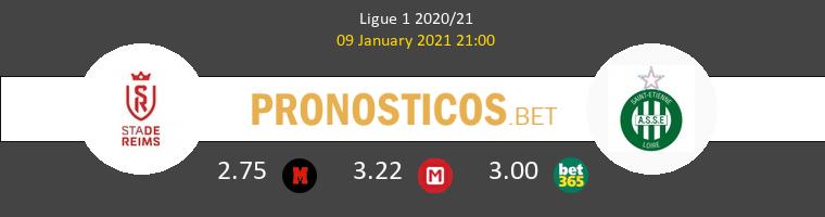 Reims vs SaintvÉtienne Pronostico (9 Ene 2021) 1