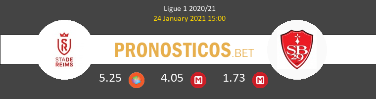 Stade de Reims vs Stade Brestois Pronostico (24 Ene 2021) 1