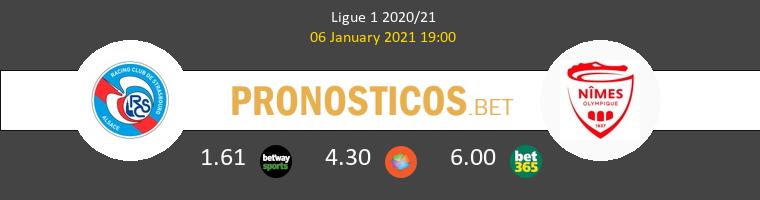 Estrasburgo vs Nimes Pronostico (6 Ene 2021) 1