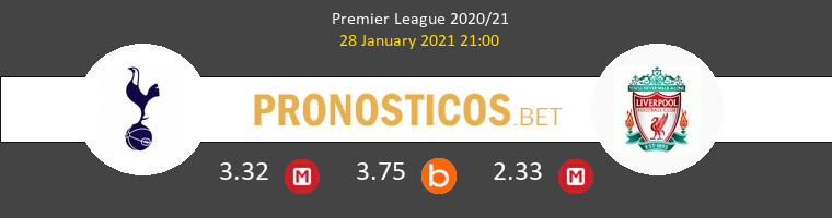 Tottenham Hotspur vs Liverpool Pronostico (28 Ene 2021) 1