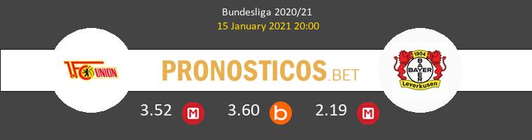 Union Berlin vs Leverkusen Pronostico (15 Ene 2021) 1