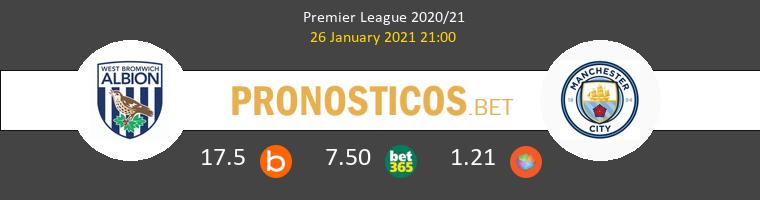 West Bromwich Albion vs Manchester City Pronostico (26 Ene 2021) 1