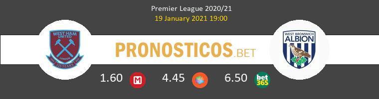 West Ham vs West Bromwich Albion Pronostico (19 Ene 2021) 1