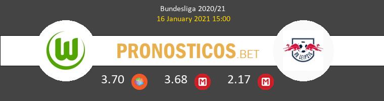 Wolfsburgo vs Red Bull Leipzig Pronostico (16 Ene 2021) 1