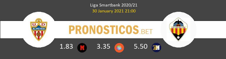 Almería vs CD Castellón Pronostico (30 Ene 2021) 1