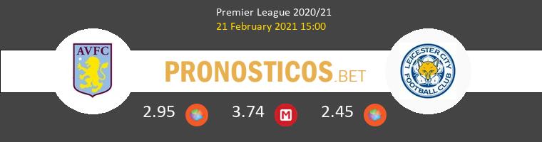 Aston Villa vs Leicester Pronostico (21 Feb 2021) 1