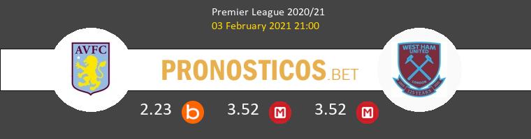 Aston Villa vs West Ham Pronostico (3 Feb 2021) 1