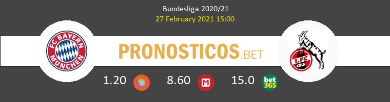 Bayern vs Colonia Pronostico (27 Feb 2021) 1