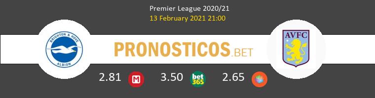 Brighton Hove Albion vs Aston Villa Pronostico (13 Feb 2021) 1