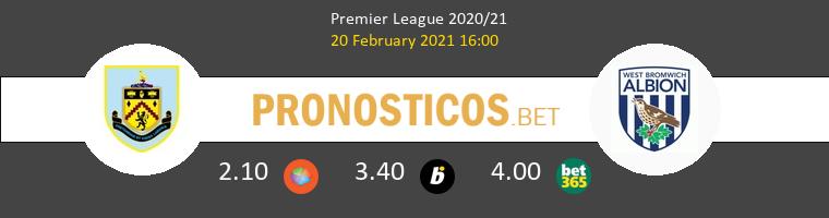 Burnley vs West Bromwich Albion Pronostico (20 Feb 2021) 1