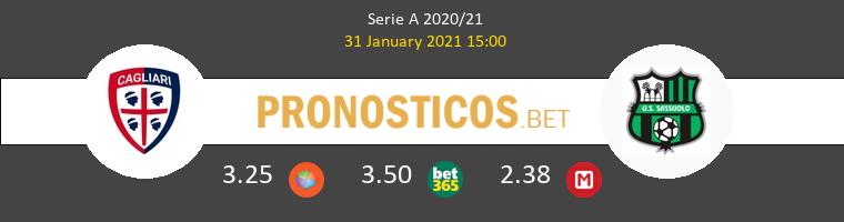 Cagliari vs Sassuolo Pronostico (31 Ene 2021) 1
