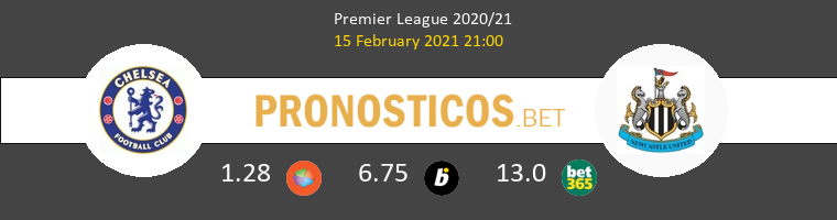Chelsea vs Newcastle Pronostico (15 Feb 2021) 1