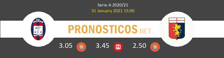 Crotone vs Genova Pronostico (31 Ene 2021) 1