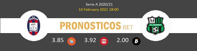 Crotone vs Sassuolo Pronostico (14 Feb 2021) 1