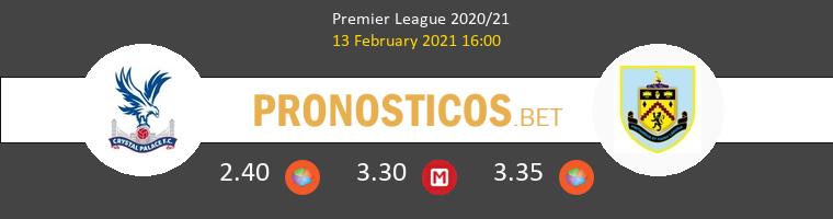 Crystal Palace vs Burnley Pronostico (13 Feb 2021) 1