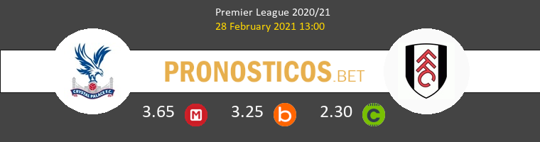 Crystal Palace vs Fulham Pronostico (28 Feb 2021) 1