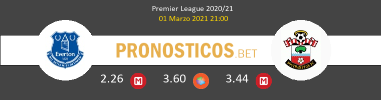 Everton vs Southampton Pronostico (1 Mar 2021) 1