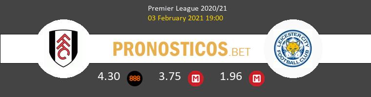 Fulham vs Leicester Pronostico (3 Feb 2021) 1