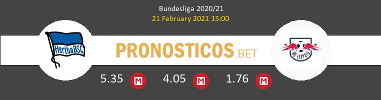 Hertha Berlín vs RB Leipzig Pronostico (21 Feb 2021) 1