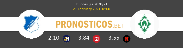 Hoffenheim vs Werder Bremen Pronostico (21 Feb 2021) 1