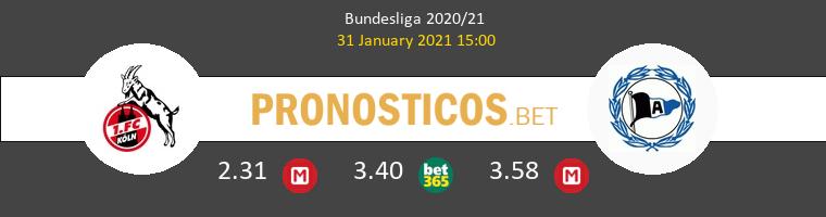 Colonia vs Arminia Bielefeld Pronostico (31 Ene 2021) 1