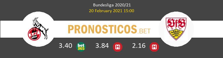 Koln vs Stuttgart Pronostico (20 Feb 2021) 1