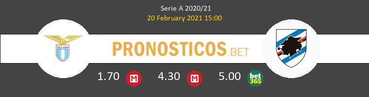 Lazio vs Sampdoria Pronostico (20 Feb 2021) 1