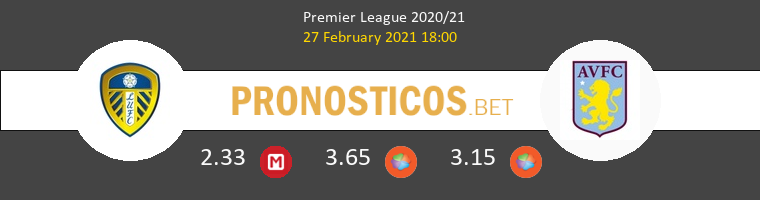 Leeds United vs Aston Villa Pronostico (27 Feb 2021) 1