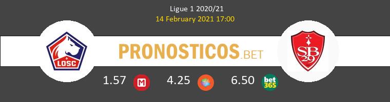 Lille vs Stade Brestois Pronostico (14 Feb 2021) 1