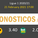 Lorient vs Lille Pronostico (21 Feb 2021) 3