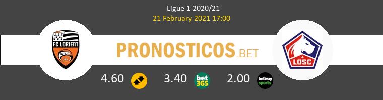 Lorient vs Lille Pronostico (21 Feb 2021) 1