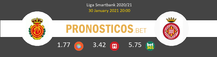 Mallorca vs Girona Pronostico (30 Ene 2021) 1