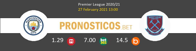 Manchester City vs West Ham Pronostico (27 Feb 2021) 1