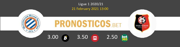 Montpellier vs Stade Rennais Pronostico (21 Feb 2021) 1