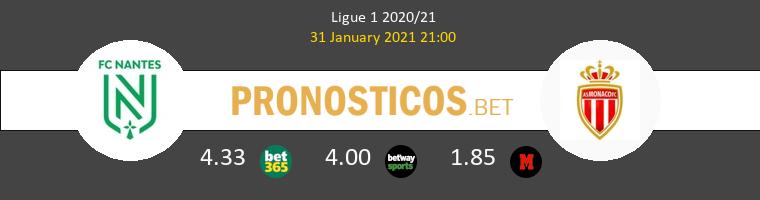 Nantes vs Monaco Pronostico (31 Ene 2021) 1