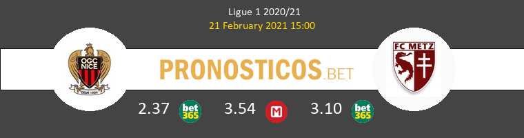 Niza vs Metz Pronostico (21 Feb 2021) 1