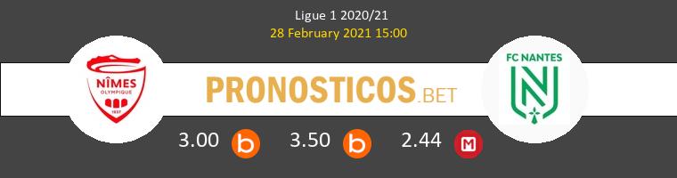 Nimes vs Nantes Pronostico (28 Feb 2021) 1