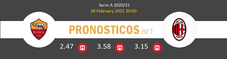 Roma vs AC Milan Pronostico (28 Feb 2021) 1