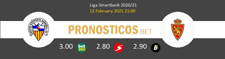 Sabadell vs Zaragoza Pronostico (12 Feb 2021) 1