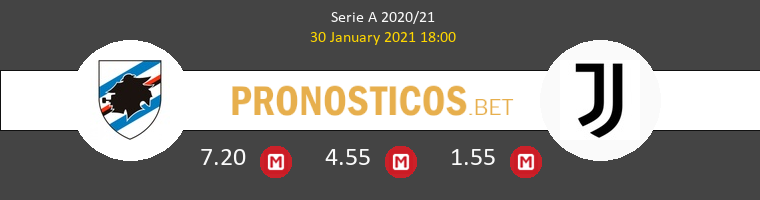 Sampdoria vs Juventus Pronostico (30 Ene 2021) 1