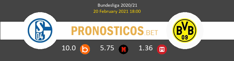 Schalke 04 vs Borussia Dortmund Pronostico (20 Feb 2021) 1