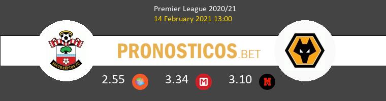 Southampton vs Wolverhampton Pronostico (14 Feb 2021) 1