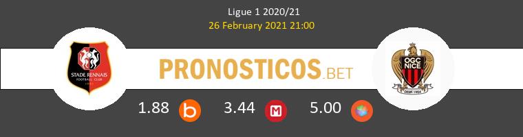 Stade Rennais vs Nice Pronostico (26 Feb 2021) 1