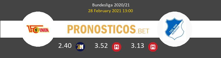 Union Berlin vs Hoffenheim Pronostico (28 Feb 2021) 1