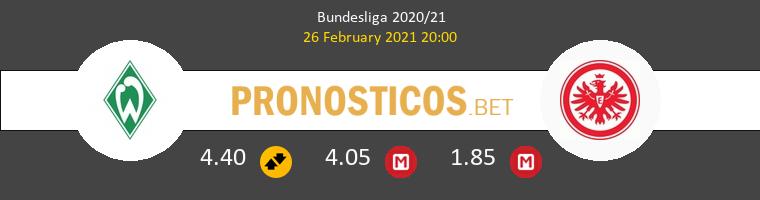Werder Bremen vs Eintracht Frankfurt Pronostico (26 Feb 2021) 1