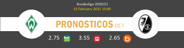 Werder Bremen vs SC Freiburg Pronostico (13 Feb 2021) 1