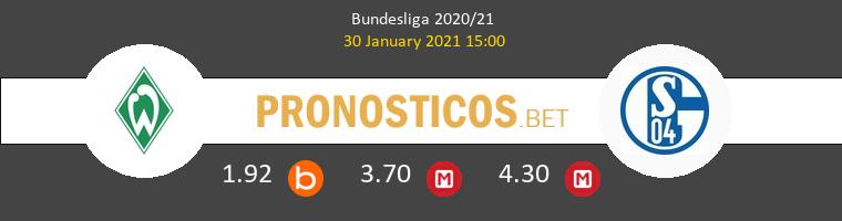 Werder Bremen vs Schalke 04 Pronostico (30 Ene 2021) 1