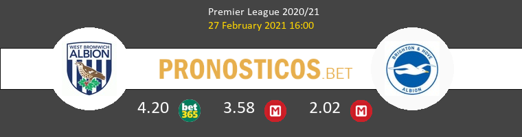 West Bromwich Albion vs Brighton & Hove Albion Pronostico (27 Feb 2021) 1