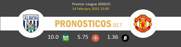 West Bromwich Albion vs Manchester United Pronostico (14 Feb 2021) 1