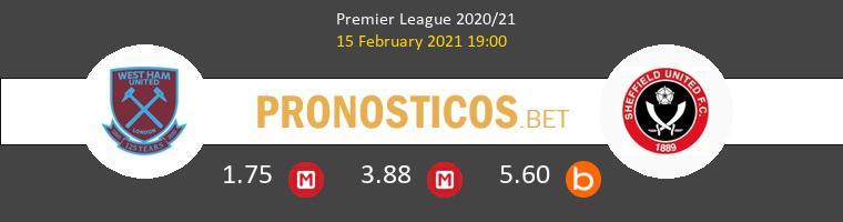 West Ham vs Sheffield United Pronostico (15 Feb 2021) 1